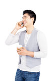 Young man talking on mobile phone Royalty Free Stock Photo