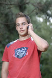 Young Man Talking On Phone Stock Images