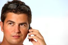Young man talking on the phone Stock Photos
