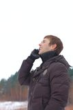 A young man talking on the phone Royalty Free Stock Photo