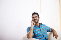 Young man talking on the phone Stock Photography