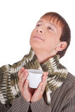 Young man with tea cup Royalty Free Stock Photo