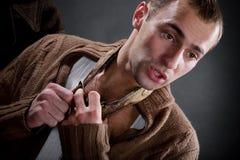 Young man tells Royalty Free Stock Photo