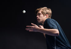 Young man tennis player Stock Image