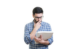 Young man with textbook Stock Images