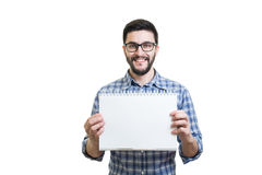 Young man with textbook Royalty Free Stock Photo