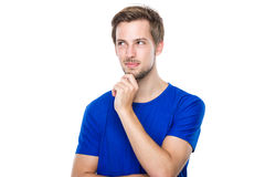 Young man think of idea Royalty Free Stock Images