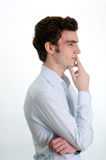 Young man thinking Stock Photography