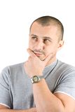 Young man thinking Stock Photos