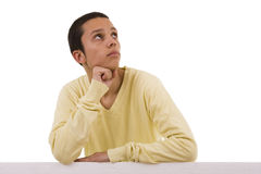 Young man thinking Royalty Free Stock Image