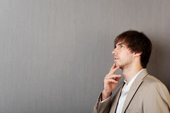Young Man Thinking Royalty Free Stock Images