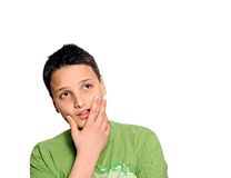 Young man in thinking pose Stock Photos
