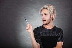 Young man thinking seek a solution Royalty Free Stock Photo