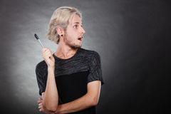Young man thinking seek a solution Stock Photography