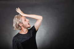 Young man thinking seek a solution Royalty Free Stock Images