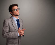 Young Man Thinking With Empty Copy Space Royalty Free Stock Image
