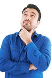 Young man in thoughtful pose Stock Images