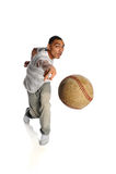 Young Man Throwing Baseball