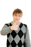 Young man thumb up Royalty Free Stock Photography