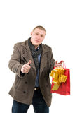 Young man with thumb up Royalty Free Stock Photo