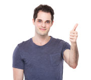 Young Man with thumb up Royalty Free Stock Photos