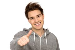 Young Man With Thumbs Up Stock Image