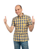 Young man with thumbs up Royalty Free Stock Photography