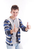 Young man thumbs up Royalty Free Stock Photo