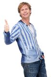 Young Man with Thumbs Up. Portrait of a young man with thumbs up Stock Photography