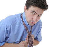 Young man and tie Royalty Free Stock Images