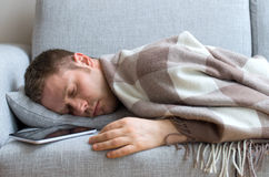 Young man tired. Royalty Free Stock Photos