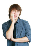 Men in tooth pain Stock Photo