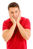 Young man with a toothache Stock Photography