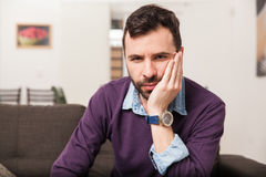 Young man with toothache Royalty Free Stock Images
