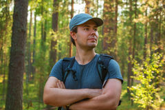 Young man tourist Royalty Free Stock Images