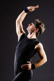 The young man training for ballet dances Stock Image