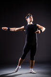 The young man training for ballet dances Royalty Free Stock Photography