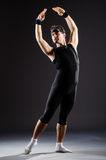 The young man training for ballet dances Stock Photo