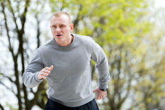 Young man training run outdoor. Stock Image