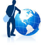 Young Man Traveler around the World Stock Image