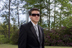 Young man in tuxedo Stock Photography