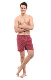 Young man in underwear Stock Photo
