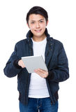 Young Man use of tablet Royalty Free Stock Images