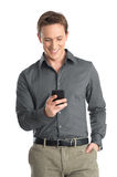 Young Man Using Cellphone Royalty Free Stock Images