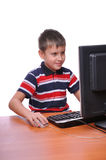 Young man using a computer Royalty Free Stock Images
