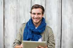 Young man using digital tablet Stock Photos