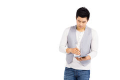 Young man using digital tablet Stock Images