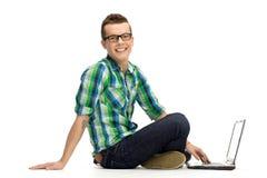 Young man using laptop Royalty Free Stock Image