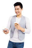 Young man using mobile phone Royalty Free Stock Image
