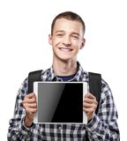 Young man using tablet pc Royalty Free Stock Image